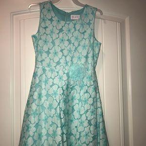 Girls The Children's Place Aqua Dress - Size 10